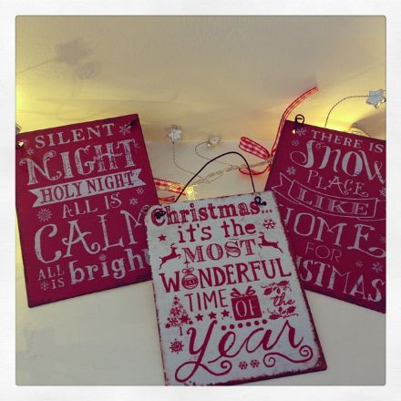 50% off A6  Vintage Hanging Metal Christmas Signs